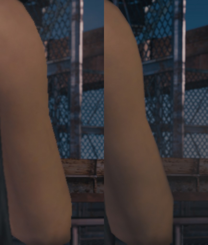 Left: default; Right: fixed
